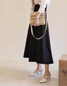 High waist zipper skirt